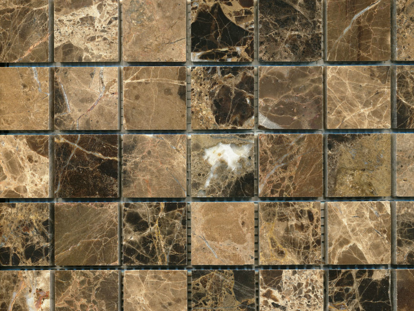 bruine-mozaïek-tegel-M32-909