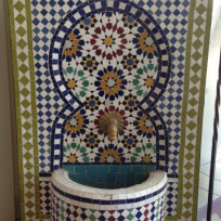 Zellige fountain Tanger