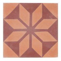 Portugese-tegels-CE-2002-ruit-motief-kleur-print-ster-compleet-geruit-motiefje-oranje-rood