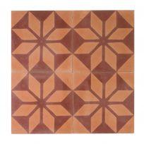 Portugese-tegels-CE-2002-ruit-motief-kleur-print-ster-compleet-geruit-motiefje-oranje-rood-complete