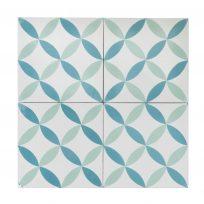 Portugese-tegels-CE-2004-ruit-motief-kleur-print-ster-compleet-geruit-groen-wit-motiefje-compleet