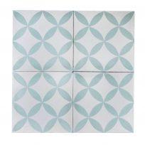 Portugese-tegels-CE-2004-ruit-motief-kleur-print-ster-compleet-geruit-lichtgroen-wit-motiefje-compleet