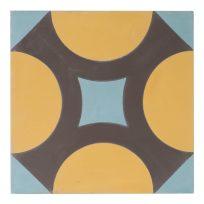 Portugese-tegels-CE-2008-ruit-motief-kleur-print-ster-compleet-geruit-geel-lichtblauw-paars-motiefje