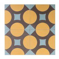 Portugese-tegels-CE-2008-ruit-motief-kleur-print-ster-compleet-geruit-geel-lichtblauw-paars-motiefje-compleet