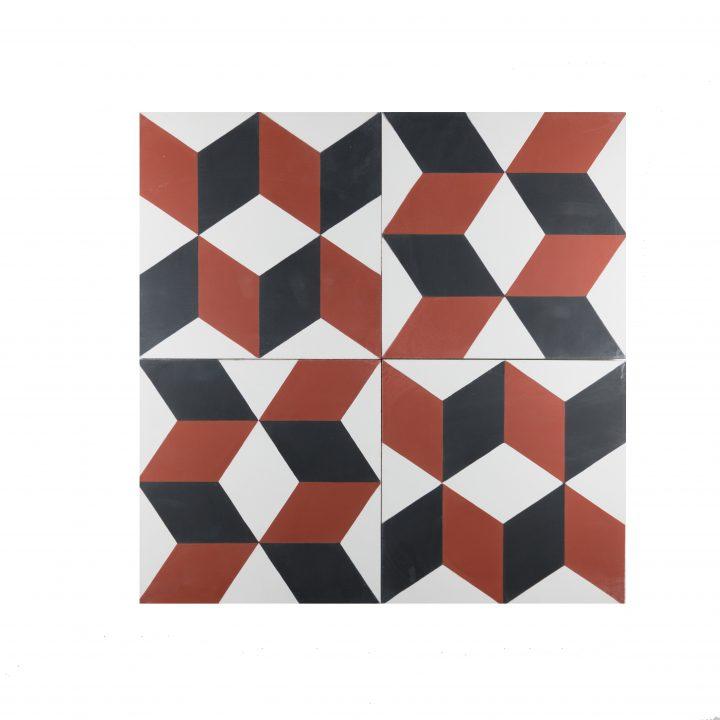 cement-tegels-Ce-2044-4-rood-blok-pijl-bordeaux-wit-figuur-motief-compleet-2