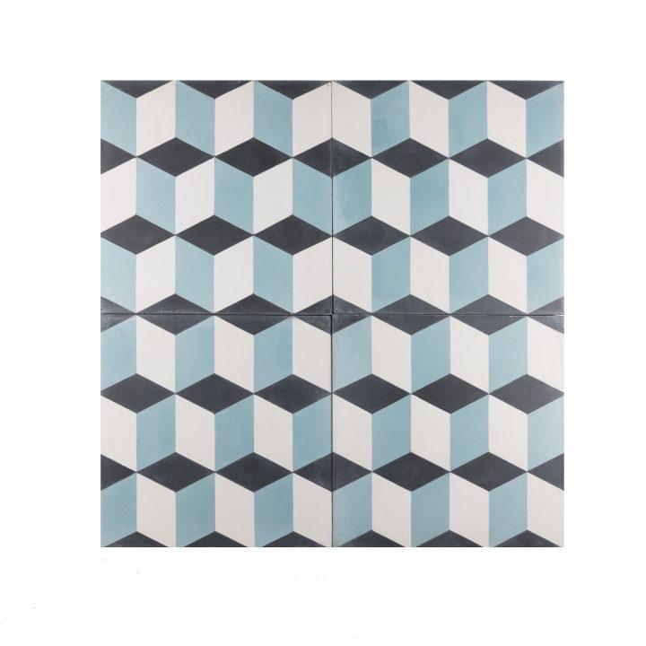 cement-tegels-Ce-2044-4-blauw-blok-pijl-bordeaux-wit-figuur-motief-donkerblauw-lichtblauw-3d-compleet