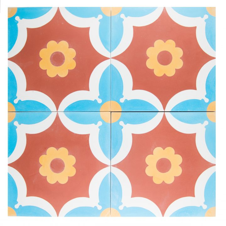 CE-2055-Cement-tegels-portugese-tegels-rood-figuur-bloem-print-motief-blauw-wit-geel-compleet