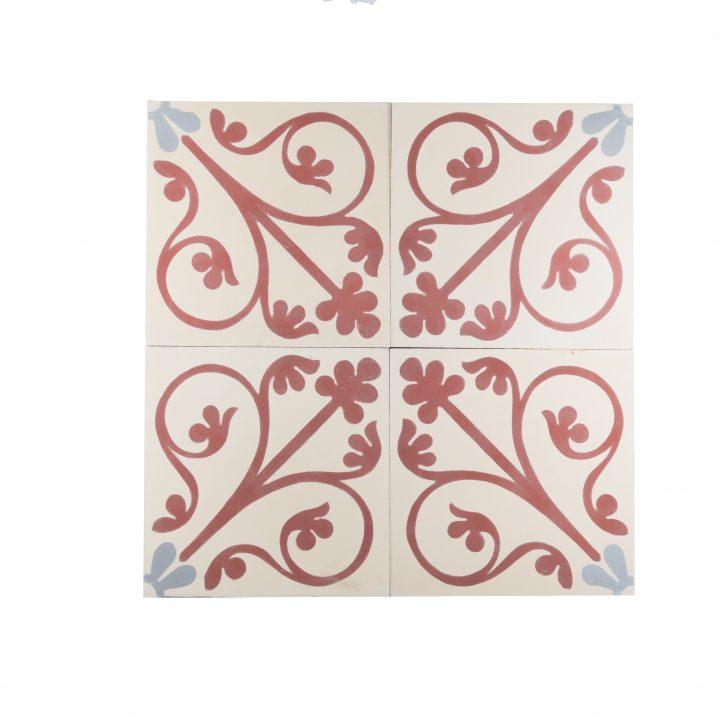 CE-2064-cement-tegels-portugese-tegels-figuur-bloem-motief-print-oranje-beige-grijs-compleet-2