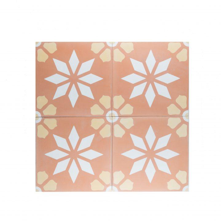 portugese-tegels-cement-tegels-oranje-beige-wit-ster-ruit-bloem-motief-print-CE-2070-compleet