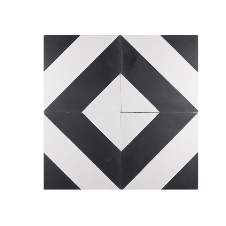 Cement-tegels-portugese-tegels-CE-2074-zwart-wit-geruit-ruit-motief-print-zwart-wit-compleet