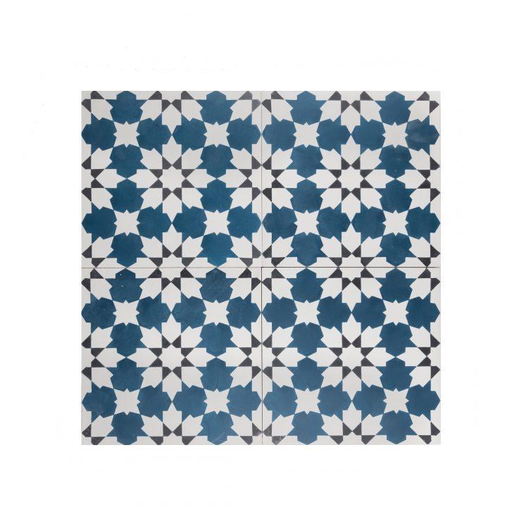 Portugese-tegels-cement-tegels-CE-2075-blauw-wit-groen-donkerblauw-motiefje-compleet