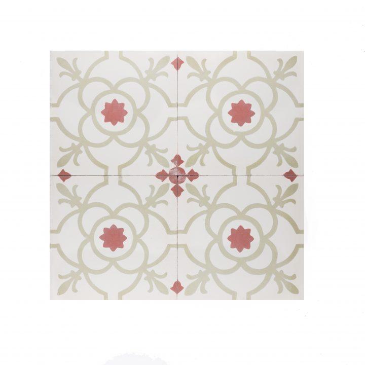 portugese-tegels-cement-tegels-CE-2078-rood-groen-wit-lichtgroen-motiefje-print-motief-compleet