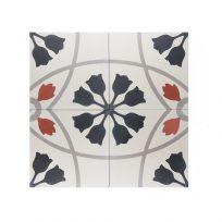 portugese-tegels-CE-2082-cement-tegels-bloem-zwart-oranje-lichtgroen-beige-tulp-compleet