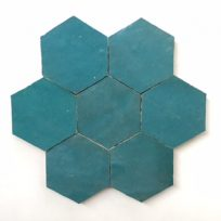 Zelliges-Hexagon-donkergroen-HX0915