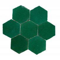 HX0908-zelliges-hexagon-groen-6hoekig-zeshoekig-donkergroen-maorkkaanse-tegels