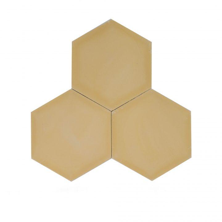 Cement-tegels-HXC06-geel-effen-hexagon-compleet