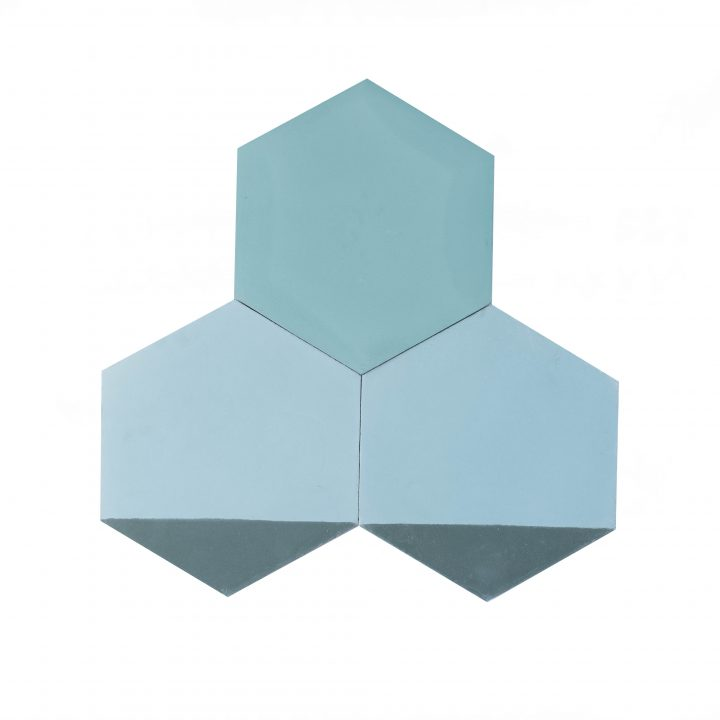 Cement-tegels-HXC203-zwart-gestreept-wit-donkergrijs-blauw-effen-hexagon-compleet