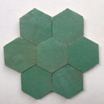Zelliges-Hexagon-groen-HX0915
